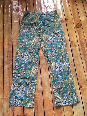 Vera Bradley Size Small Sleep Pants With Roll Up Legs