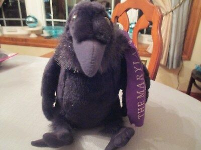 "Wild Republic Cuddlekins 12"" Black Raven stuffed Plush Baltimore zoo fundraiser"
