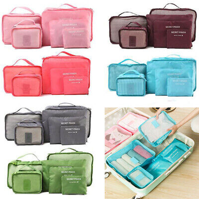 6Pcs Travel Storage Bag Set for Clothes Luggage Packing Cube Organizer Suitcase