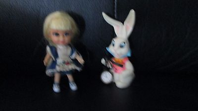Vintage Liddle Kiddles Alice In Wonderland Wonderliddle Set Storybook Rabbit