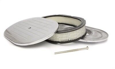 RACING POWER CO 12 in Oval Polished Aluminum Oval Air Cleaner P/N R6020