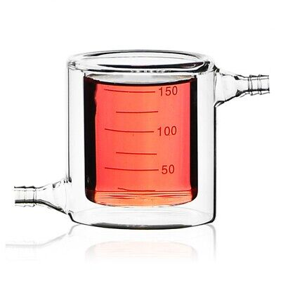 150mL Jacketed Glass Beaker,Lab Chemistry Glassware,Double Layer