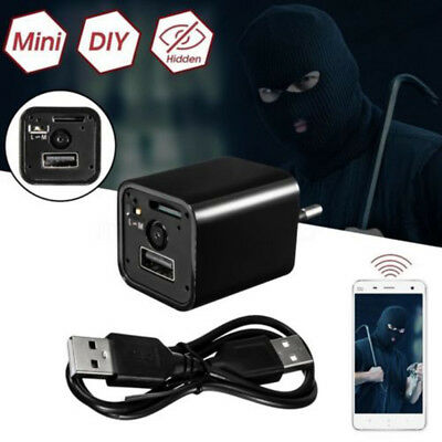 1080P Mini WIFI USB SPY Camera Hidden Wall Charger AC Adapter US Plug