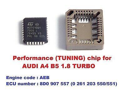 Modified chip for AUDI A4 B5 1.8T AEB turbo engine. Chip tuning (Chiptuning)!