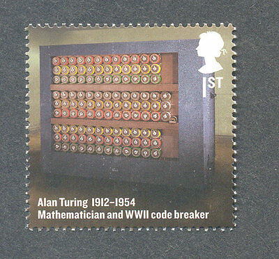 Alan Turing -Code Breaker- World war II- Military mnh Great Britain single