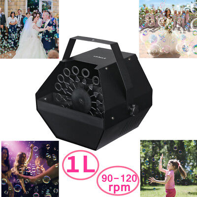 Portable Bubble Blower Blowing Maker Machine High Output DJ Disco Wedding Party