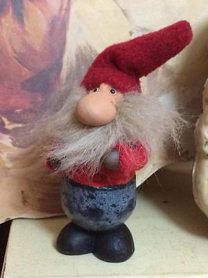 Tomte Nisse Christmas ceramic gnome made in Sweden