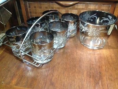 Silver fade Dorothy Thorpe style  Mid century drink set
