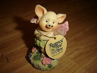 Fairy Pig Fantasy Figure From The Woodland Fairy Collection By Regency Fine Arts