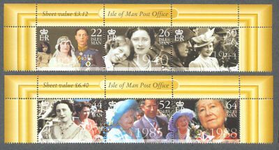 Isle of Man-Queen Mother mnh set-Royalty