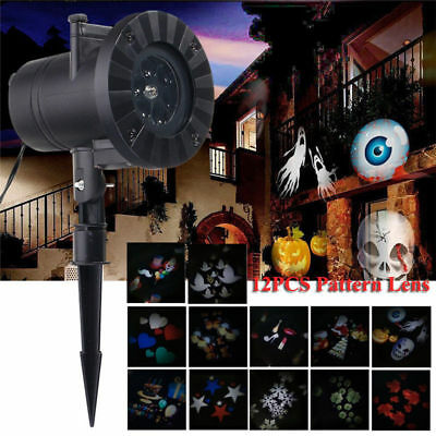 Waterproof Outdoor Halloween Christmas LED Projector Lights Holiday House Decor