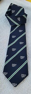 MENS TIE ABBEY ROAD RUGBY CLUB NAVY 1990s