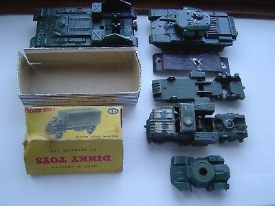 Dinky Toys  Army Military Tank Antar + Box Top Joblot Job Lot Vintage Antique 1P