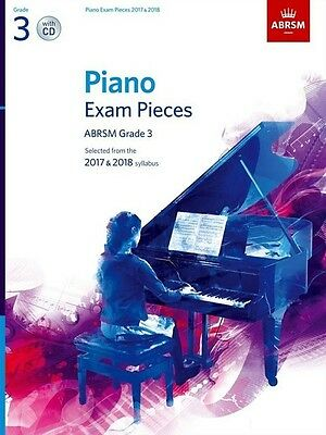 Grade 3  PIANO EXAM PIECES 2017 - 18  ABRSM Music Book with CD