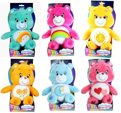 "30cm Care Bears Boxed Toy 12"" Wish Bedtime Cheer Bear Soft Plush Turquise Pink"