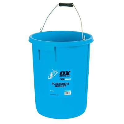 25L Plasterers Plastic Mixing Bucket Professional Strong Heavy Duty Tub OX Tool