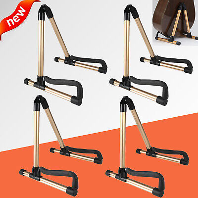 4X Folding Guitar Floor A Frame Universal Acoustic Electric Bass Stand Holder BP