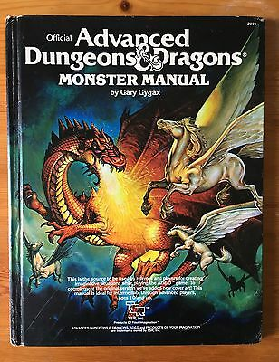 AD&D Advanced Dungeons and Dragons Monster Manual by Gary Gygax 1987