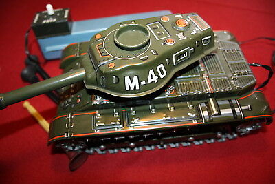 Japan Modern Toys M-40 TANK SHOOTING RC Battery Powered Panzer aus Blech