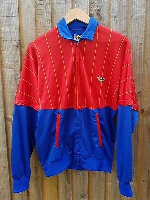 80S Casuals Vintage Og Pop 84 Track Top Rare Colourway Borg Bj Small