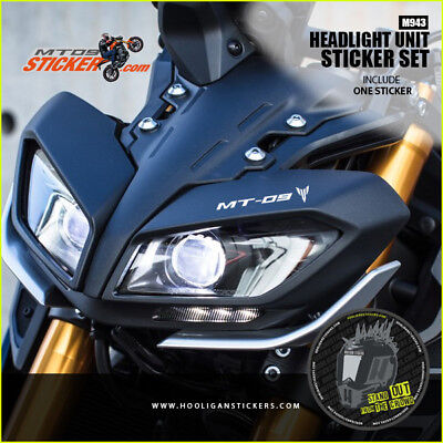 Yamaha MT-09 2017 Headlight Stickers 10 COLORS AVAILABLE (m943)
