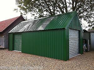 GARAGE/WORKSHOP BUILDING - STEEL3.6m width x 9m length x 3m eve