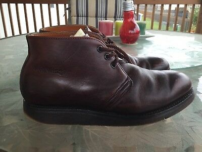 Men's Red Wing Chukka Ankle Boots Red-Brown USA Size 10.5 2E Wide LOOK!