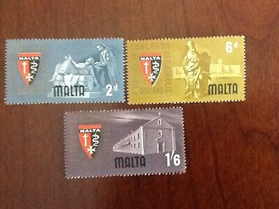 1964 Malta  CATHOLIC PHYSICIANS  CONGRESS MINT NH SET OF THREE VF