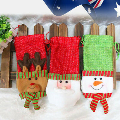 Xmas Wine Bottle Bag Santa Gift Wrap Pack Deco Set Party Decoration Christmas