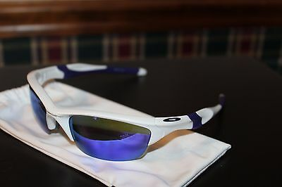 Oakley Half Jacket 2.0 OO9144-08 Pearl White/Violet Iridium Sports Sunglasses