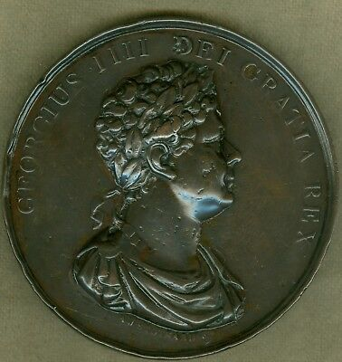 1830 British Medal to Honor King George IV Upon His Death, by A.J. Stothard