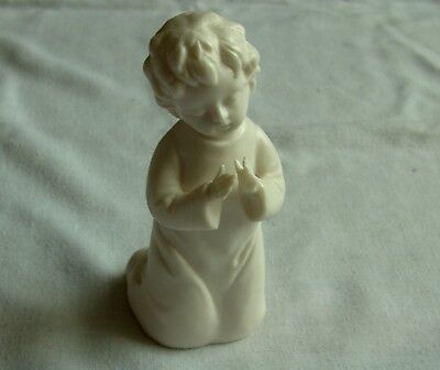 Vintage Parian Boy Figurine Praying height 5""