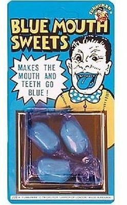 Blue Mouth Sweets X3 Joke Trick Stocking Filler Party Bag