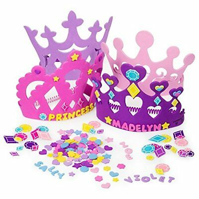 Princess Tiara Crown Craft Kits Activities party girls 12 Foam 400 Piece Craft