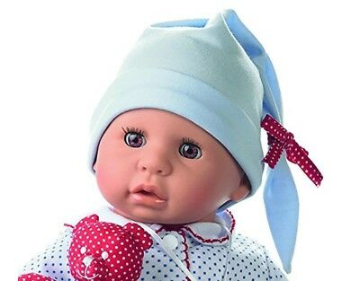 "Gotz Cookie 19"" Soft Baby Boy Doll with Brown Sleeping Eyes Accessories for Ages"