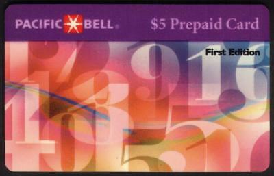 TK 268 Telephonkarte/Phone Card $5. Floating Numbers 'First Edition'