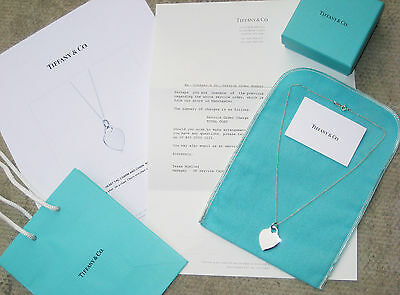 Tiffany & Co Medium Heart Tag Charm Sterling Silver Necklace