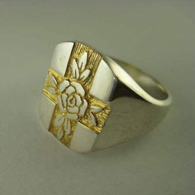 Solid silver Rosicrucian ring - 2364-R