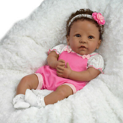 Ashton Drake Tasha Lifelike Soft Silicone Baby Girl Doll by Linda Murray