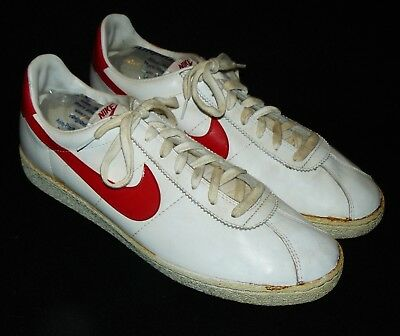 80s vintage Nike Bruin Shoes sneakers Taiwan 1982 Red/White 13 NICE!!!