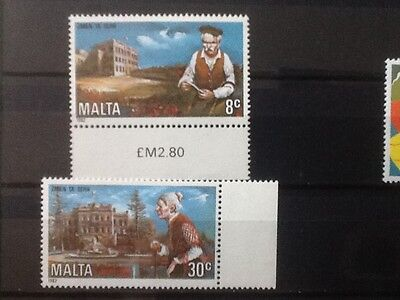 1982 Malta YEAR OF THE ELDERLY  MNH Scott No 612/3