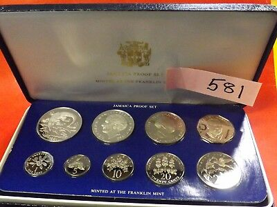 1981 Jamaican Silver proof set.. includes the crocodile dollar low mintage, rare