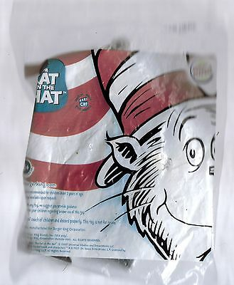 """New Cat in the Hat - 5"""" Cat w/ Box Key Ring - Burger King Kid's Meal Toy - 2003"""