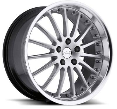 19x8.5 Coventry Whitley 5x120.65 Rims +30 Silver Wheels (Set of 4)