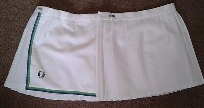 Vintage Girls Ladies Two White Tennis Gym Sports Pleated Short Skirts  Uk 6 / 8