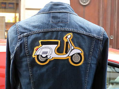 GRAND ECUSSON PATCH aufnaher toppa THERMOCOLLANT / SCOOTER VESPA / 15.1x23.4cm