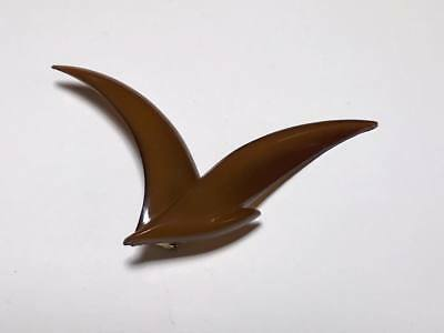 Signed Buch & Deichmann lucite seagull brooch made in Denmark