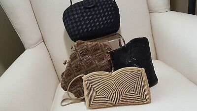 Vintage lot of 4 mixed evening bags