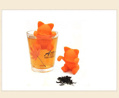 Silicone Tea Infuser City People Lovely Orange Portable CAT Tea Strainers