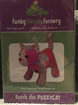 PATTERN - Free Postage Pussy Cat - cute softie toy cat Funky Friends Factory
